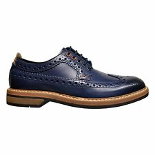 Clarks Pitney Limit Men's Leather Wingtip Brogue Derby Shoes Blue 26120574
