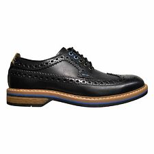 Clarks Pitney Limit Men's Leather Wingtip Brogue Derby Shoes Black 26120575
