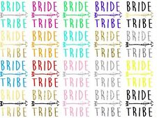 Bride Tribe Hen T-shirt Transfer DIY Iron on Free Postage Hen party bride
