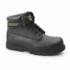 Grafters Mens SB SRA WP Leather Non Metal Toe Cap Waterproof Safety Boots Black