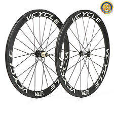 VCYCLE V50C 700C Carbonio Ruote 50mm Racing Da Strada Bike Copertoncino Set