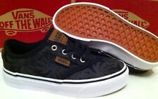 New Boys Vans Atwood Deluxe Palm Leaf Canvas Black Trainers  UK 10,11,13..