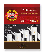ARTISTS' WHITE COAL CHARCOAL - Koh-I-Noor Gioconda - grades extra soft to hard