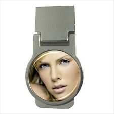 Charlize Theron Round Money Clip w/ Optional CZ Crystals