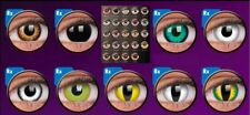 Crazy Fun Contact Lenses Kontaktlinsen lentilles Cat eyes Cosplay Zombie Cartoon