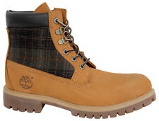 Timberland 6 Inch Mens Boots Wheat Plaid Patterned Lace Up A116C U16