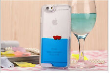 IPhone 5 & 6 Valentine Liquid Love Hearts Phone Case Protector Cover Case *NEW*