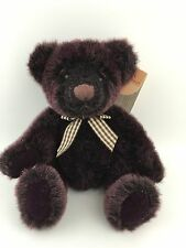 Russ Berrie Plum Winslow Bear From The Past Purple Plush New With Tags