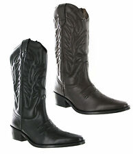 Gringos High Clive Cowboy Western Leather Pull On Mens Pointed Toe Boots UK6-12