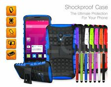 Alcatel Pixi 4 (6.0 inch) 3G / 8050 - Shockproof Tough Grip Case w/ Stand & Pen