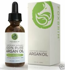 Foxbrim Argan Oil - 100% Pure Certified Organic - For Hair Face Skin & Nails ...