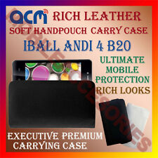ACM-RICH LEATHER SOFT CASE for IBALL ANDI 4 B20 MOBILE HANDPOUCH COVER HOLDER