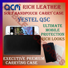 ACM-RICH LEATHER SOFT CASE for YESTEL Q5C MOBILE HANDPOUCH COVER HOLDER LATEST