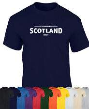 SCOTLAND 6 NATIONS  RUGBY T SHIRT - SIX NATIONS RUGBY - SCOTLAND T SHIRT -
