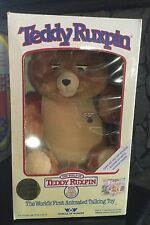 NIB VTG 1985 WORLDS OF WONDER ORIGINAL TEDDY RUXPIN ANIMATED TALKING TOY NEW OLD