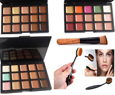 15 color Concealer palette with brush face makeup contour cream,Shade #1,#2,#3