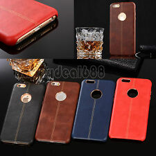 Luxury Ultra-thin Leather Back Case Cover For iPhone 6 6S Plus/Samsung