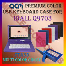 "ACM-USB COLOR KEYBOARD 10"" CASE for IBALL Q9703 TABLET LEATHER COVER STAND CARRY"