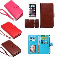 Magnetic Luxury Leather Flip Cover Card Holder Wallet Case For iPhone