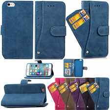 Card Holder Wallet PU Leather Stand Shockproof Case Cover For iPhone 6