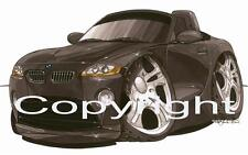Koolart - BMW Z4 Black Car - Mug - Personalised With A Name - 1642