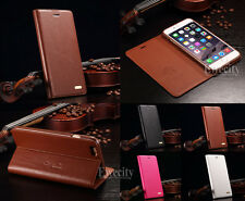 Luxury Genuine Leather Magnetic Flip Stand Case Cover For Apple iPhone