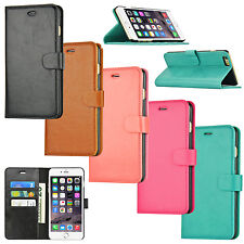 Leather Wallet Card Slot Flip Stand Cover Case For Apple iPhone 6 6S 7