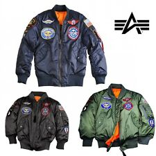 Alpha Industries MA-1 TT Patch Youth Giacca bambini giacca kids TGL 2 ANNI - 12