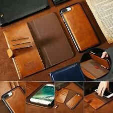 Luxury Magnetic Flip Leather Detachable Wallet Cover Case for iPhone 7