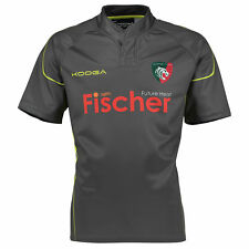 KooGa Mens Gents Rugby Leicester Tigers Training Shirt Jersey Top - Charcoal