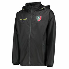 KooGa Mens Gents Rugby Leicester Tigers Training Shower Jacket Top - Black