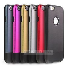 Hard Brushed Metal Aluminium PC Back Case Cover For iPhone 4 4S 5 5S SE 6 Plus