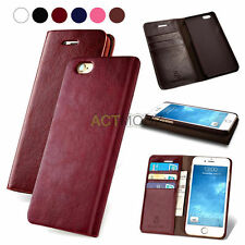 Luxury Genuine Leather Flip Wallet Phone Case Cover for iPhone 7/7 Plu