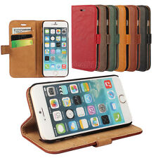 Luxury Leather Card Slot Wallet Flip Stand Case Cover for Apple iPhone