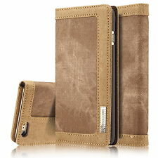Magnetic Leather Canvas Wallet Flip Stand Card Case Cover For iPhone 6