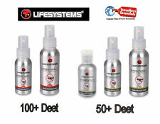 Lifesystems Exped Plus 100+ & 50 + Deet Insetti Mosquitio Repellenti
