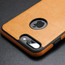 Ultra Thin Slim Rubber Soft TPU PU Leather Back Case Cover For iPhone