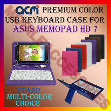 """ACM-USB COLOR KEYBOARD 7"""" CASE for ASUS MEMOPAD HD 7 LEATHER TABLET COVER STAND"""