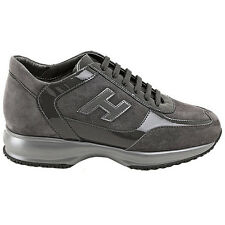 Hogan Original scarpe INTERACTIVE shoes grey suede grigio camoscio donna woman