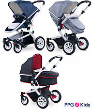 Baby pram pushchair buggy stroller from birth, Modern compact travel system 2in1