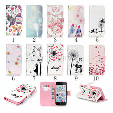 Flip New PU Leather Wallet Case Cover Card Holder Stand for Apple iPho