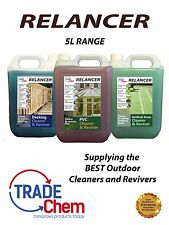 Relancer - 5L Range - Articificial Grass - Decking - PVC - CLEANERS and REVIVERS
