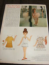 Vintage Betsy McCall Mag. Paper Doll, Betsy Goes to Dancing School, March 1962