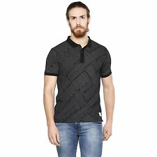 Cult Fiction Polo neck Half Sleeves Black Cotton Tshirt for men (CFM07BL1016)