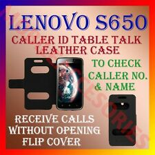 ACM-CALLER ID TABLE TALK CASE for LENOVO S650 MOBILE FLIP FRONT & BACK COVER NEW