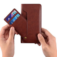 New Genuine Leather Card Pocket Wallet Cover Pouch Case For iPhone 6 6