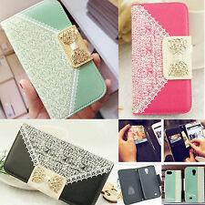New PU Leather Flip Case Wallet Card Holder Cover For Samsung Galaxy i
