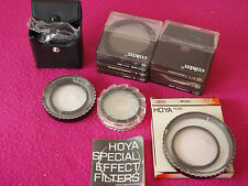 Collection of Cokin Filters, Hoya Filters, Close Ups etc