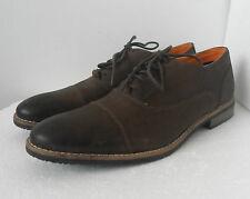CLARKS MENS STER CAPS BROWN LEATHER LACE UP SHOES UK SIZE 6 G