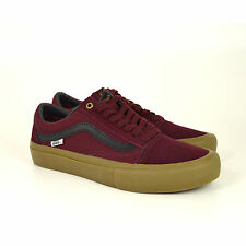 Vans Old Skool Pro, Sneaker, Port/Black Gum, Weinrot, Veloursleder/Canvas, Neu